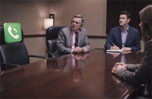 problemas en una reunión virtual vídeo